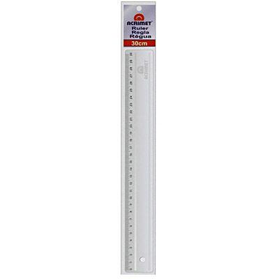 Régua de poliestireno Transparente 30cm. Acrimet