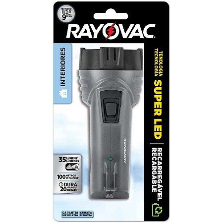 Lanterna Super Led Mini Rayovac - Recarregável