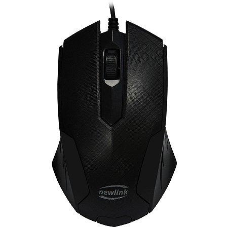 Mouse otico USB 1000dpi Grid Cabo 1.5m Newex
