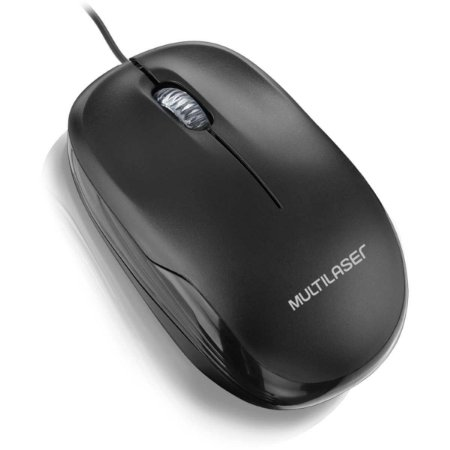 Mouse otico USB Box 3botoes 1200dpi Preto Multilaser Mo255