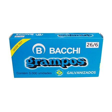 Grampo 26/6 Galvanizado 5000 Grampos - Bacchi