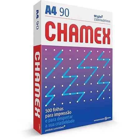 Papel sulfite A4 210 x 297 mm Chamex Super 90g 500 Folhas International Paper