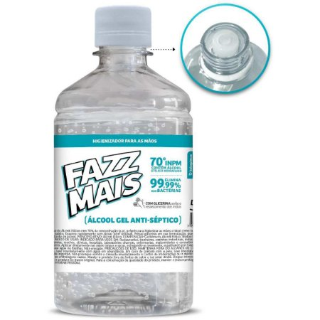 Álcool em gel Gel Fazz Mais Antisseptc 500ml Belaquimica