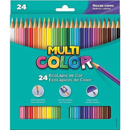 Lapis de cor sextavado Multicolor Super Eco 24 cores Faber-Castell