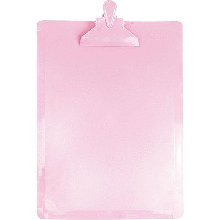Prancheta Plástica Oficio Serena Dello - Rosa Pastel