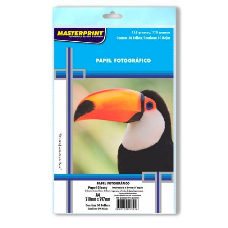 Papel Fotográfico Masterprint A4 115g - 50 Folhas