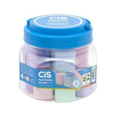 Apontador com deposito Cis 415 4 cores Pastel Sertic