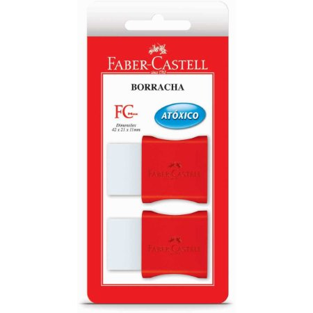Borracha branca Fc Max Pequena Plastica Vermel Faber-Castell BL.C/02