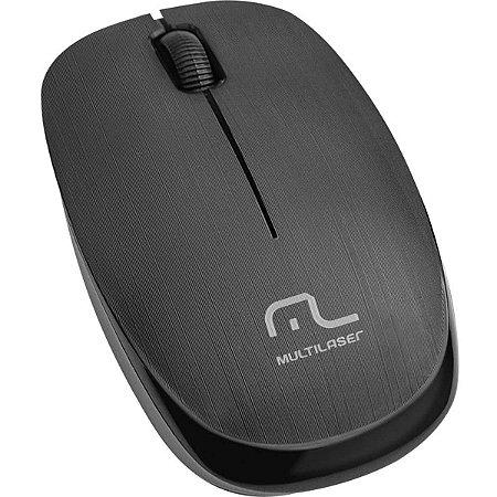 Mouse otico sem fio 1200dpi 2.4ghz Preto Multilaser MO251