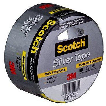 Fita de alta resistência cinza Silver Tape Scotch 3939 45mmx5m 3m