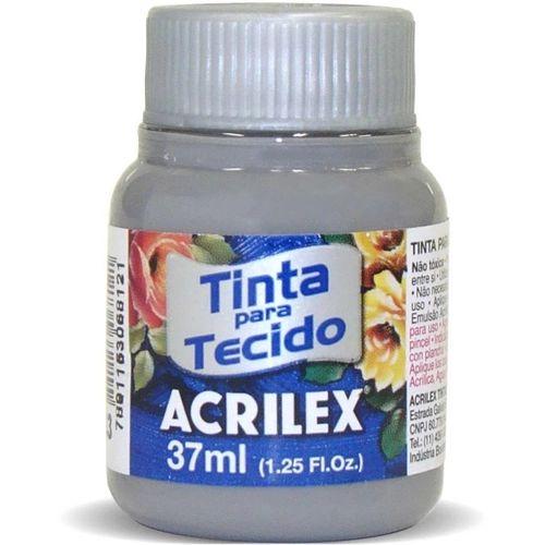Tinta de Tecido Fosca Acrilex - 37ml Cinza