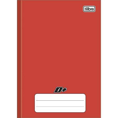 Caderno Brochura 1/4 Capa Dura Vermelho D+ 48 Folhas - Tilibra