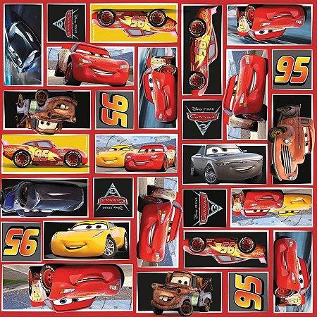 Saco Metalizado - Carros 3 - 30x45cm