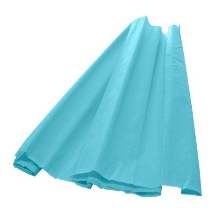Papel Crepom Azul Celeste 48cmx2,00m
