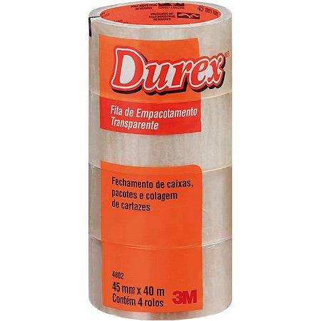 Fita Para Empacotamento Durex Acrilico 45mmx40m Transp