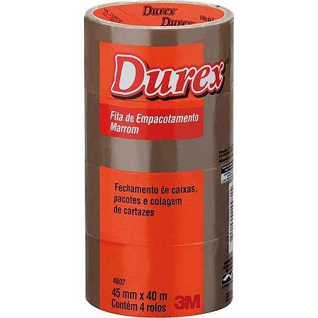 Fita Para Empacotamento Durex Acrilico 45mmx40m Marrom
