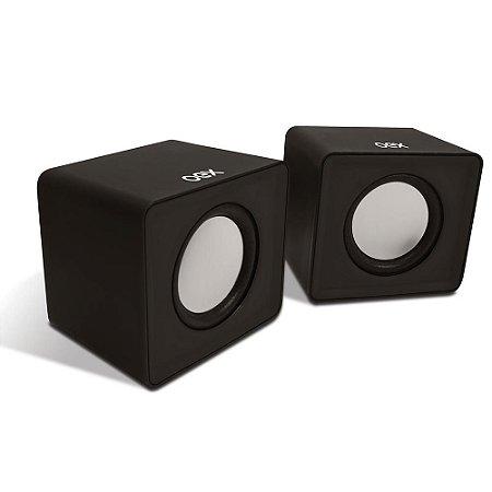 Caixa De Som Para Computador Speaker Cube Preta 3w Usb/P2 SK102