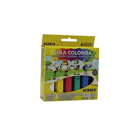 Cola Colorida Acrilex 6 Cores 23g