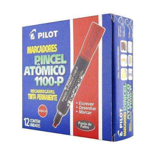 Pincel marcador permanente atomico 1100p vermelho recarr. Pilot