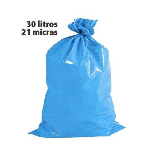 Saco para lixo 030l azul 21 micras rolo c/ 50 altaplast