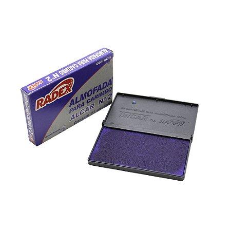 Almofada para Carimbo N.2 Azul Radex
