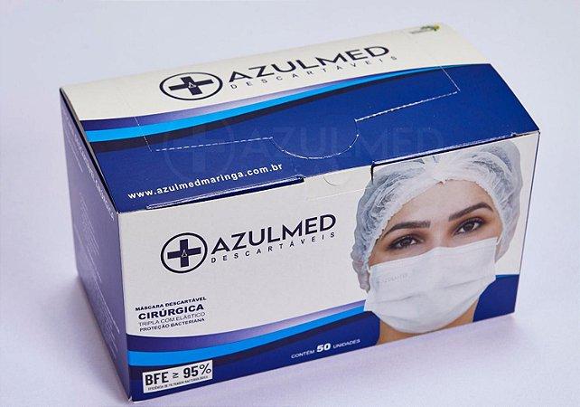 Mascara Descartável Azulmed - 50 unidades