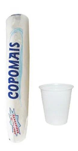 Copo 180ml Pacote C/100 Branco - Copomais