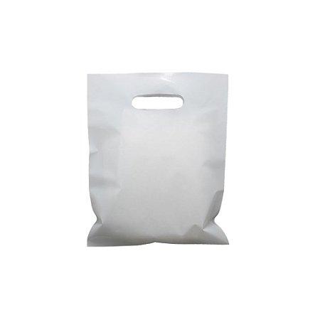 Sacola Boca de Palhaço Branca 25x30 0,13