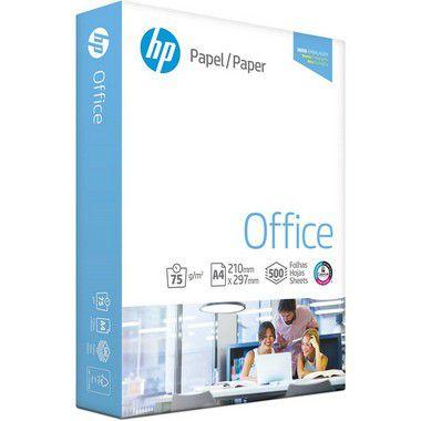 Papel sulfite HP Office A4 75g 210mmx297mm resma com 500 folhas
