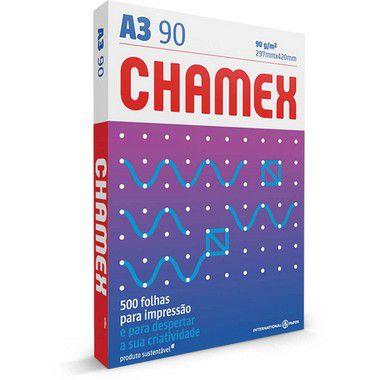 Papel Sulfite Chamex A3 Super 90g - 500 Folhas