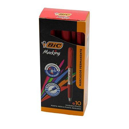 Pincel Marcador BIC Marking 1.1mm - Vermelho