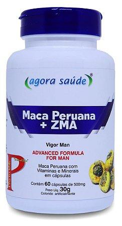Maca Peruana Original Pura com ZMA - 60 cápsulas