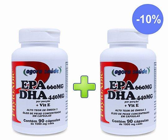 Ômega 3 1000mg (EPA 660mg DHA 440mg) – 90 cápsulas - Combo: 2 frascos com 10% de Desconto