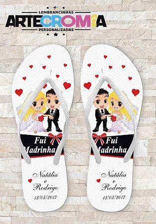 Chinelos Personalizados para Casamento - MDL059