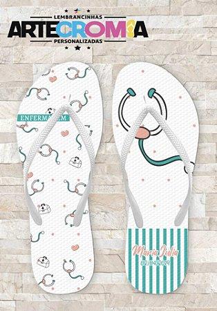 Chinelo Personalizado para Formatura de Enfermagem - MDL003