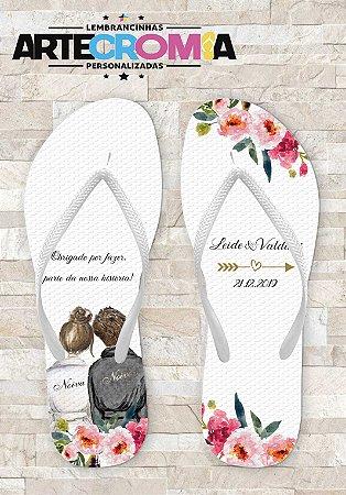 Chinelo Personalizado para Casamento Noivinhos - MDL052
