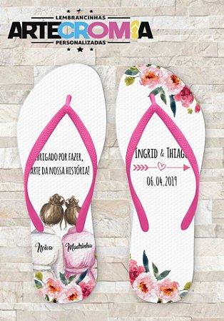 Chinelo Personalizado para Casamento Madrinhas - MDL045