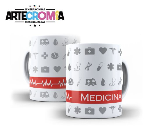 Caneca xicara personalizada para formatura de Medicina - MDL001
