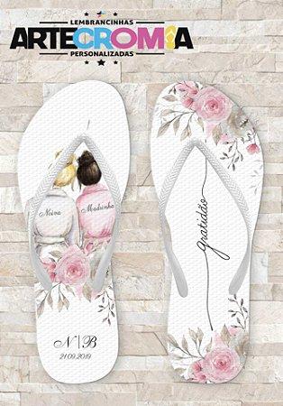 Chinelo Personalizado para Casamento Noiva & Madrinhas - MDL110