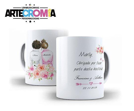 Caneca personalizada de Madrinhas de Casamento - MDL001