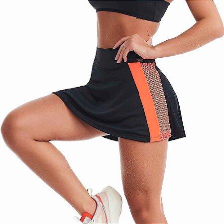 Shorts Saia Fitness Elastic Preto CAJUBRASIL