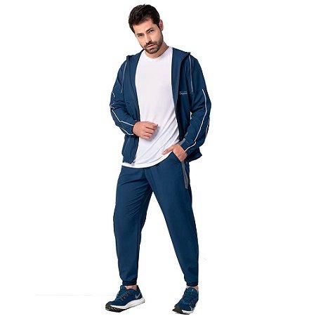 Conjunto Masculino Jaqueta e Calça Elastic Azul ZERO AÇUCAR