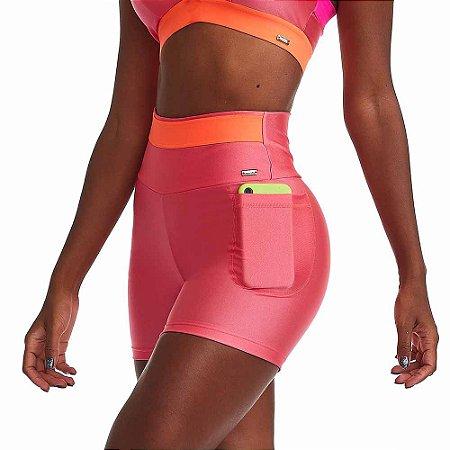 Shorts Fitness Feminino Mystic Pink Neon CAJUBRASIL