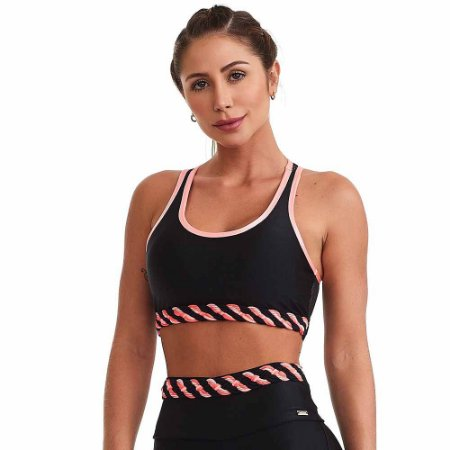 Top Fitness Rarity Preto CAJUBRASIL