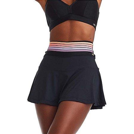Shorts Saia Fitness Friendly Preto CAJUBRASIL