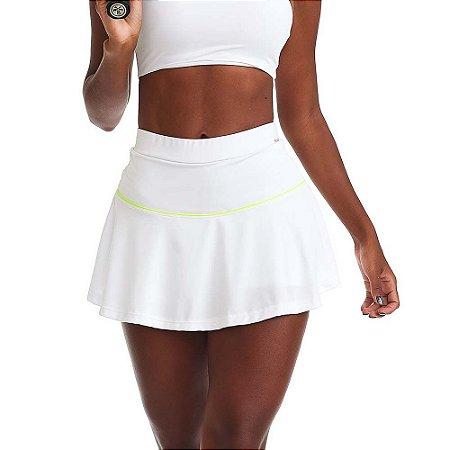 Shorts Saia Fitness Jump Branco CAJUBRASIL