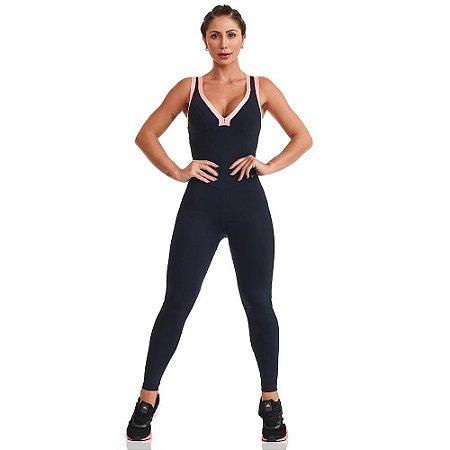 Macacão Fitness NZ Colors Preto CAJUBRASIL