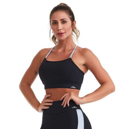 Top Fitness Emana Harmony Preto CAJUBRASIL