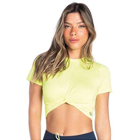 Blusa Feminina Dry Fit Gratitude Amarelo Neon VESTEM