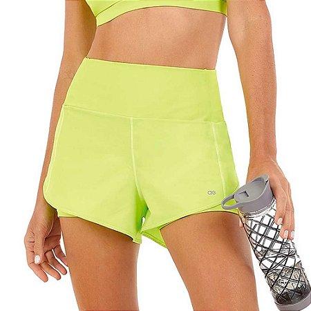 Shorts Feminino Bahamas Elastic Transpassado Verde ALTO GIRO